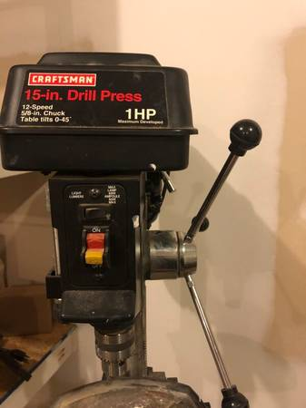 Photo Craftsman Drill Press 15-in 1-HP 12-Speed - $200 (STATE COLLEGE)