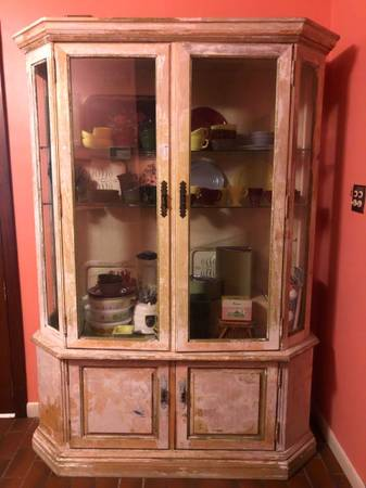 Photo Habersham Hutch China Cabinet Wall Unit with Glass Doors - $750 (State college)