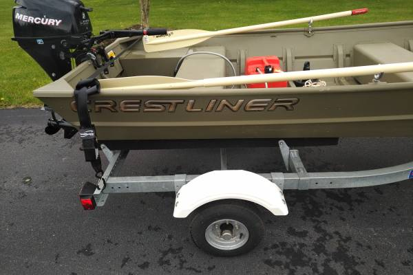 Photo John boat, motor, trailer for sale (Boalsburg)