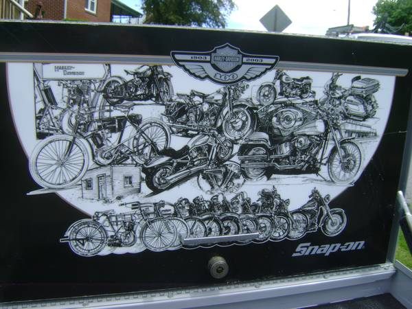 Photo Snap On Harley Davidson 100th Anniversary Tool Storage Top Chest KRA40 - $750 (bellefonte)