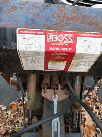 Photo Snow Plow Boss Rapid-Tach II - $500 (State College)