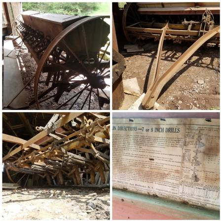Photo antique farm equipment, grain drill, Ford tractor, potatoes picker, $ - $1000 (Tamaqua pa off r. 309  81)