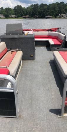 Photo 24ft Pontoon Boat Spectrum Needs Work - $500 (Pensacola)