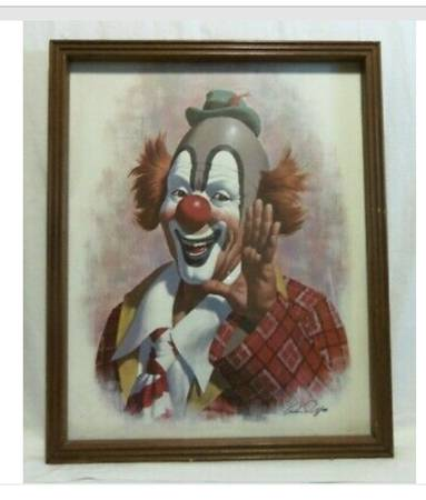 Photo Clown collection statues and paintings for sale cheap (Long Beach)