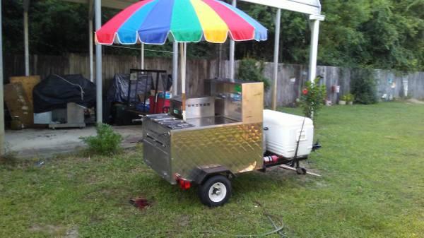 Photo Hot Dog food cart  trailer - $3250 (Pensacola)