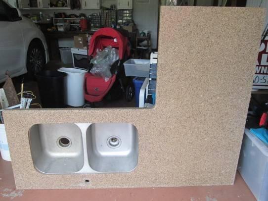 Photo Quartz Countertop with Double Stainless Steel Sink - $200 (Milton)