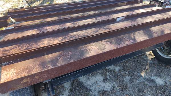 Photo USED STEEL I-BEAM 12quot HIGH 4quot WIDE 8 39 LONG 14quot THICK. - $100 (Pensacola)
