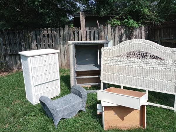 Photo Wicker bedroom set (Milton)
