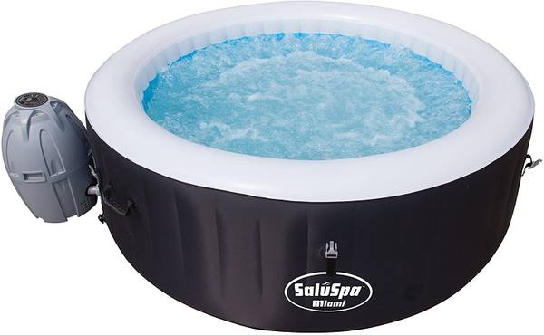 Photo Bestway SaluSpa Miami Inflatable Hot Tub, 4-Person AirJet Spa - $500 (East peoria)