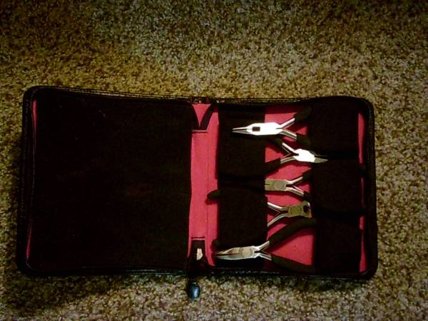 Photo Craftsman 5 Piece Mini Pliers Set Stainless Steel In Leather Case - $25 (Peoria)