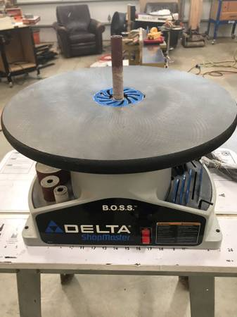 Photo DELTA SA350 Shopmaster BOSS Benchtop Spindle Sander - $200 (east peoria)