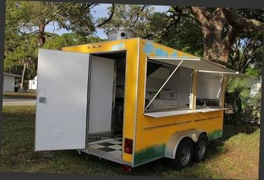 Photo For sale _ 14 ft long Gwen CateringFast Food trailer  - $800 (peoria)
