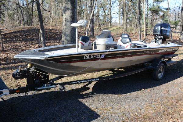 Photo 17396 Bass Tracker Fishing Boat - $10900 (Pineville between Newtown  Doylestown)
