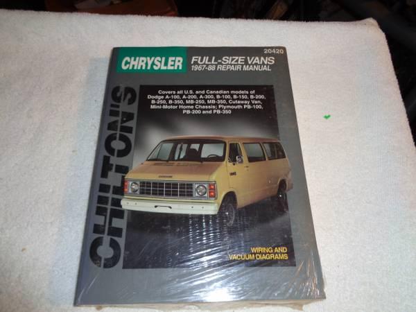 Photo 1967-1988 Chrysler Full Size Van Manual - $20