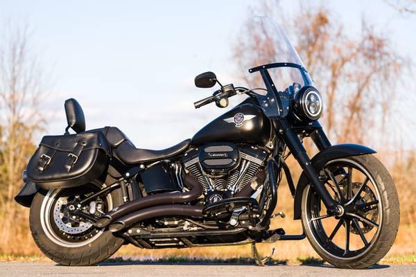 Photo 2016 Harley-Davidson Softail Fatboy S FLSTFBS 110quot Screamin39 Eagle - $14,995 (Zieglerville)