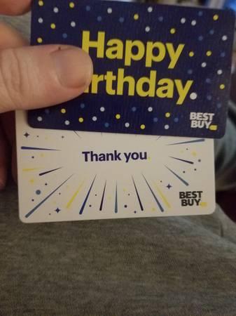 Photo 2 x $500 best buy gift cards - $900 (Tacony)