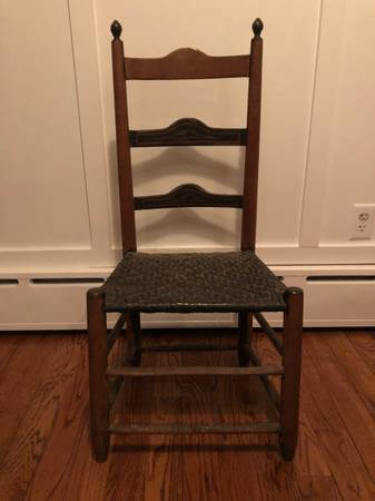 Photo Antique Ladder Back Side Chair - $35 (Havertown)