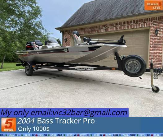 Photo Bass Tracker Boat For Sale - $1,000