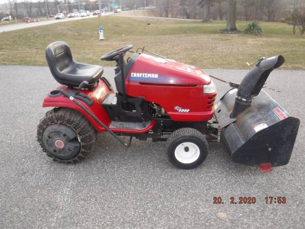 Photo CRAFTSMAN GT 5000 TRACTOR MOUNT SNOW BLOWER - $75 (19438)