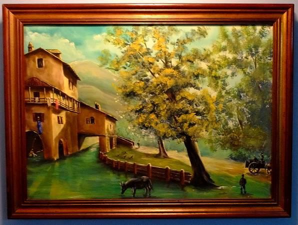 Photo Ca. 1970 Rural Italian Villa Oil on Canvas by Leno Guestini (b.1938) - $125 (Plymouth Meeting)