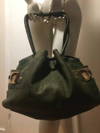 Photo Cole Haan Olive Green Handbag Shoulder Bag Excellent Condition - $45 (Art MuseumFairmount)