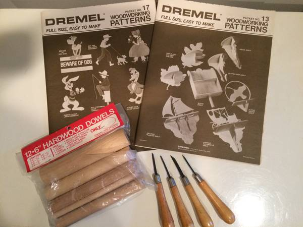 Photo Dremel Woodworking Patterns - Never Used - Includes Tools  Dowels - $15 (northern liberties  Philadelphia)