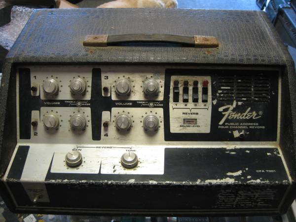 Photo FENDER CFA 7001 4 CHANNEL REVERB PA - $50 (WEST CHESTER, PA)