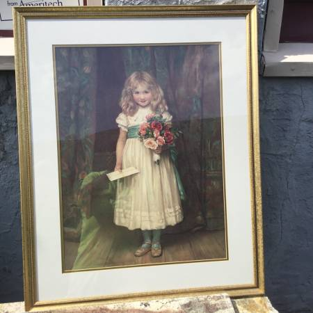 Photo Framed Picture of a Little Girl - $30 (CLIFTON HEIGHTS,PA.)