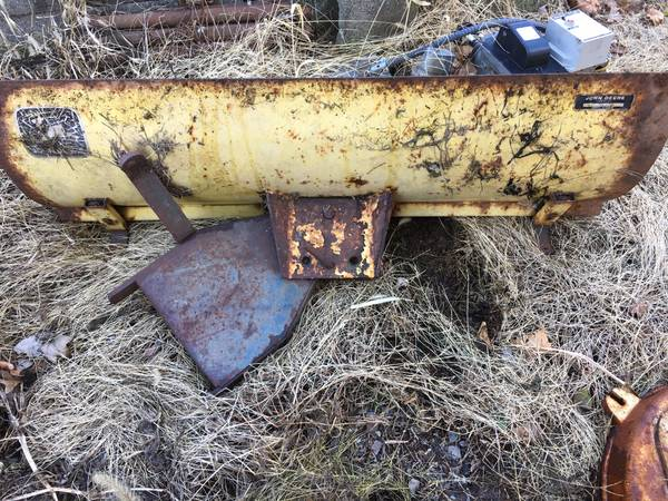 Photo John Deere tractor snow plow blade - $50 (East Greenville)