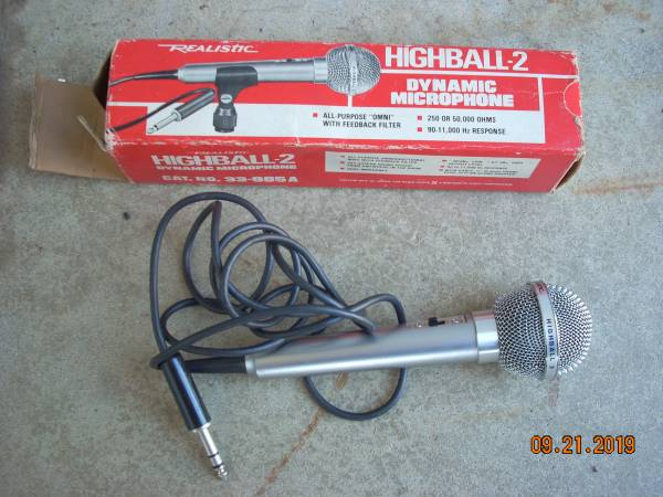 Photo Vintage Realistic Highball-2 Dynamic Microphone in Box - $15 (Morrisville, PA)