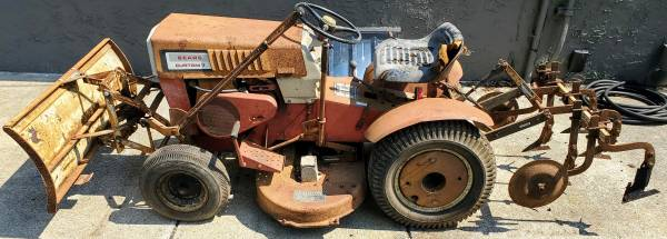 Photo Vintage Sears Custom 7 Garden Tractor Original Manuals Running Driving - $599 (Aston)