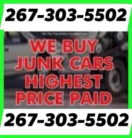 Photo WE BUY JUNK CARS Highest paid on Junk Cars 267-303-5502 - $2,673,035,502 (Philadelphia pa 267-303-5502)
