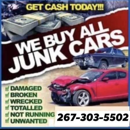 Photo WE BUY JUNK CARS TOP DOLLAR PAID 267-303-5502 - $2,673,035,502 (Philadelphia pa)