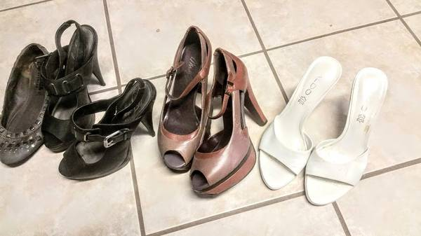 Photo womens shoes size 6.5 klein dockers roxy miss sixty aldo fergie - $50 (drexel hill)
