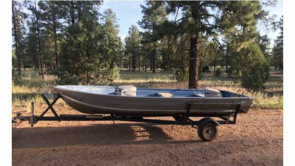 Photo 14 ft aluminum boat - $1100 (Queen creek)