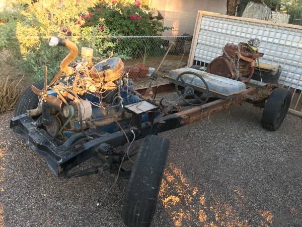 Photo 1940 - 1947 Ford Pickup Truck Frame and engine - $1