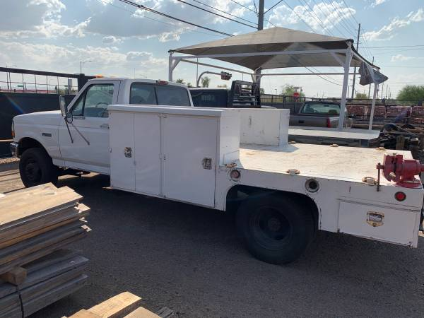 Photo 1997 Ford F450 flat bed Dually - $7,800 (Phoenix)