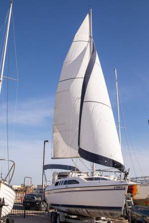 Photo 1998 Hunter 26 sailboat and trailer, open to trades - $16900 (lake pleasant)