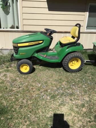 Photo 2008 John Deere X 540 garden tractor- John Deere 42 tiller - $2,500 (C Verde)