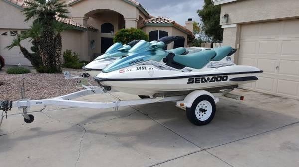 Photo 3 seat 2000 Seadoo GTI39s with dual trailer, seadoos - $4900 (Mesa)