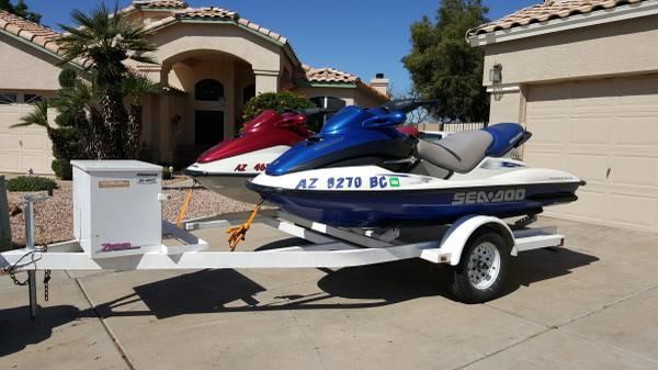 Photo 3 seat Seadoo GTX39s on dual trailer, seadoos - $5900 (Mesa)