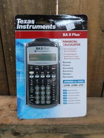 Photo BA-II Plus Advance Business Financial Calculator Dark Gray - $25 (Country Club  University)