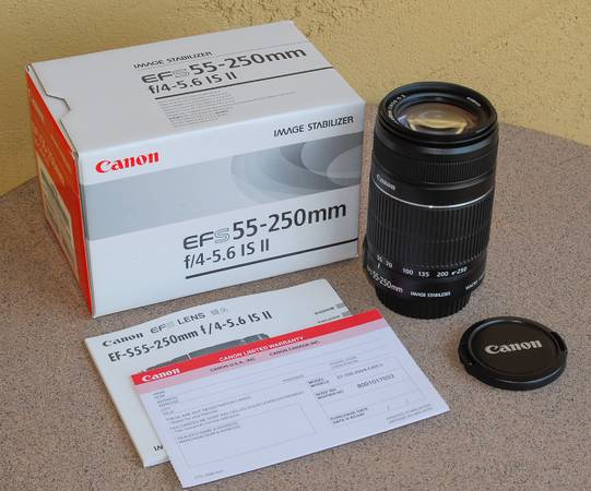 Photo Canon EFS 55-250mm F4-5.6 IS II in box NOS - $100 (Apache Junction)