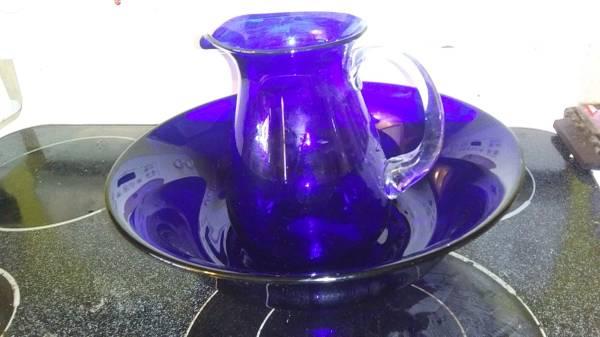 Photo Cobalt Blue Pitcher and Basin - $30 (Phoenix)