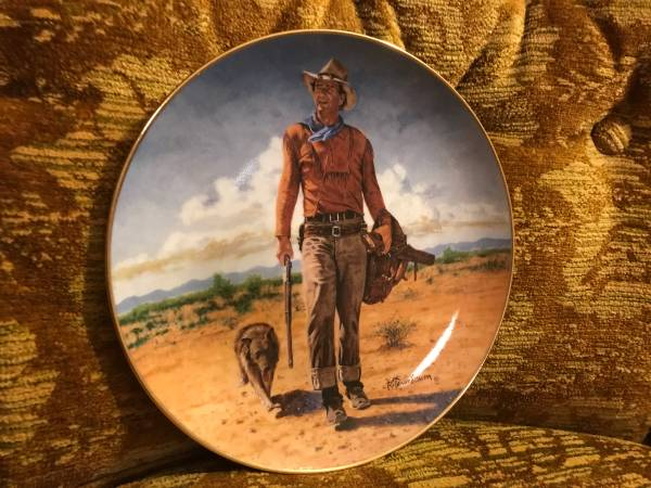 Photo Collector Plates (4) - John Wayne - $35 (Westwood)