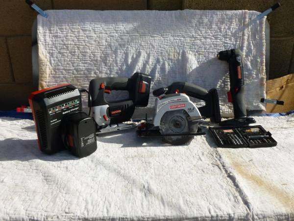 Photo Craftsman 19.2 volt battery Power Tool Set - $150 (Scottsdale)