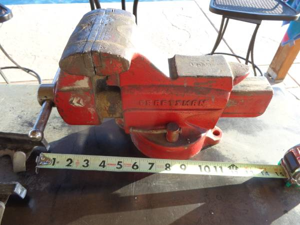 Photo Craftsman 5quot bench vise with extra set of soft jaws - $125 (scottsdale)