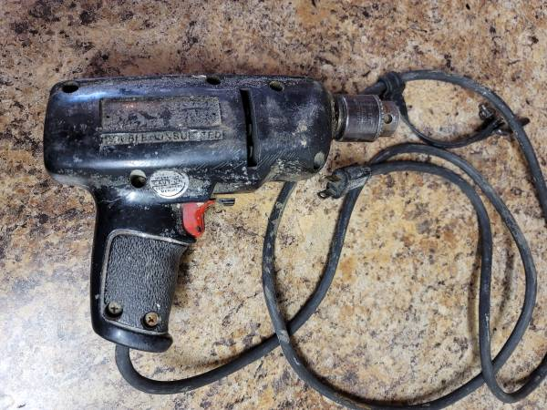 Photo Craftsman Double Insulated Vintage Corded Drill Used (Sticks Sometimes - $20 (Scottsdale (101  McDowell))