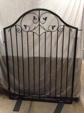 Photo Decorative, Arched Wrought Iron Gate - Powder Coated, 52-inches Wide - $300 (chandler)