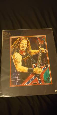 Photo Dimebag Darrell PANTERA artwork by Robert Hurst - $100 (Phoenix)
